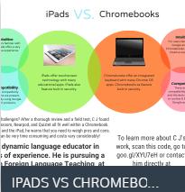 "Flyer for Hague ""Ipads vs Chromebooks"""