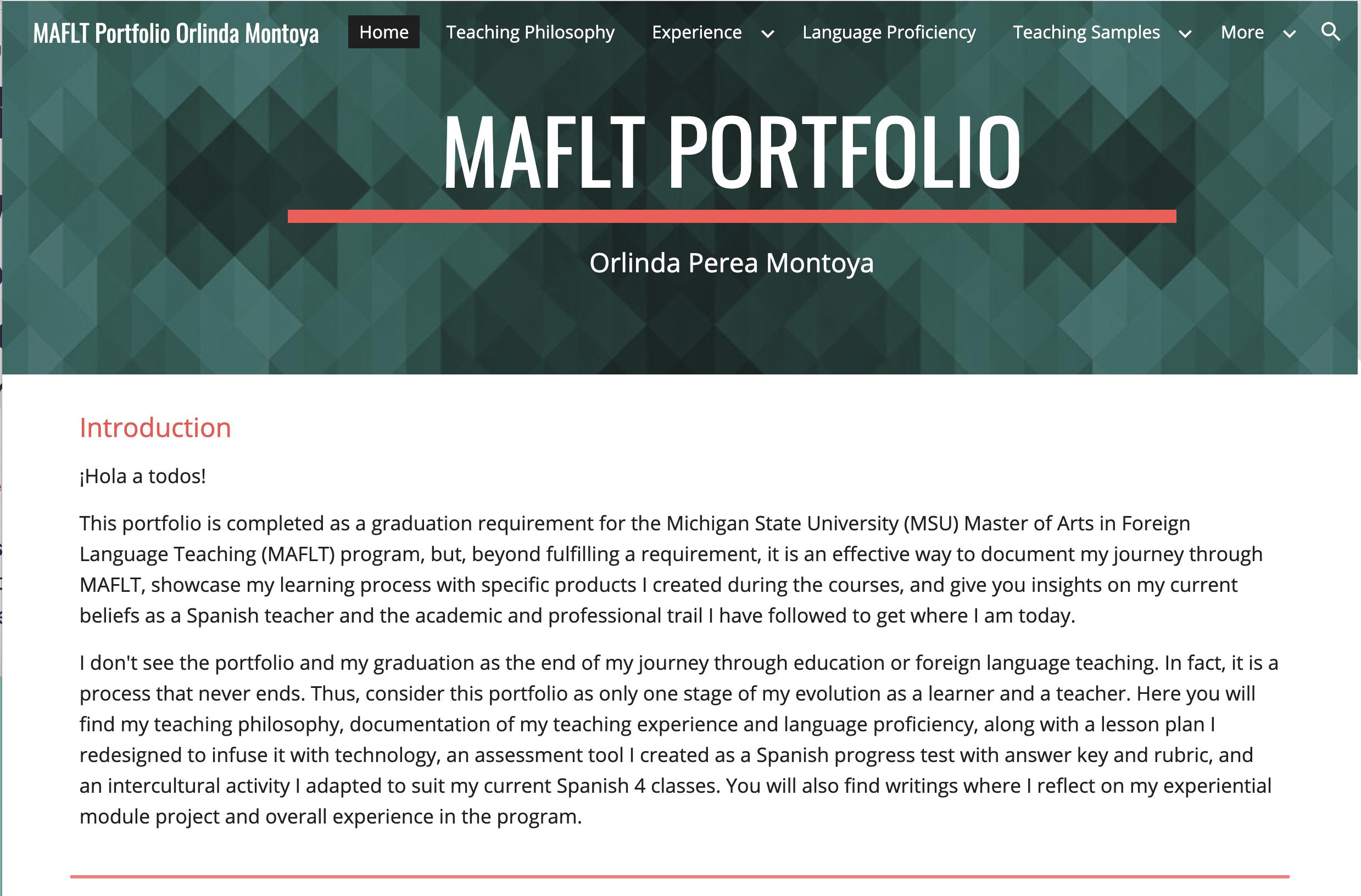 screenshot of montoya website homepage