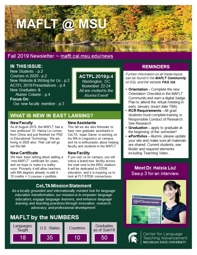 Fall19 MAFLT Newsletter
